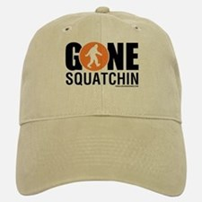 Gone Squatchin Baseball Baseball Cap Black/Orange Logo