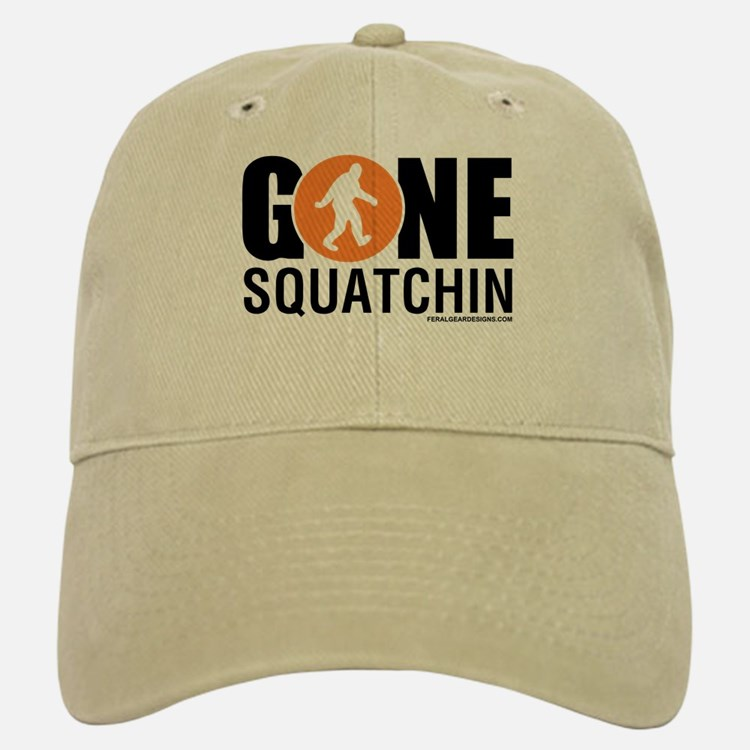 Gone Squatchin Baseball Baseball Cap Black/Orange Logo