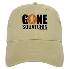 Gone Squatchin Baseball Cap Black/Orange Logo
