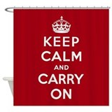 Keep calm and carry on Shower Curtains
