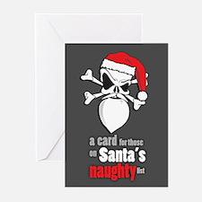 Santa skull Christmas cards Cards (Pk of 10)