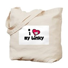 I Love my binky Tote Bag