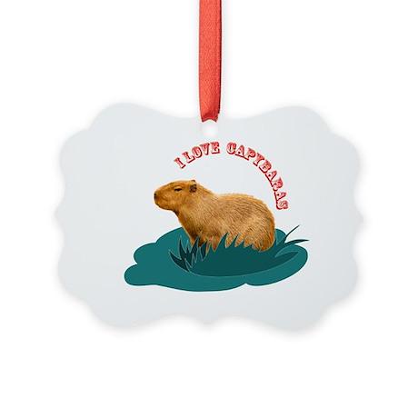I love capybaras Picture Ornament