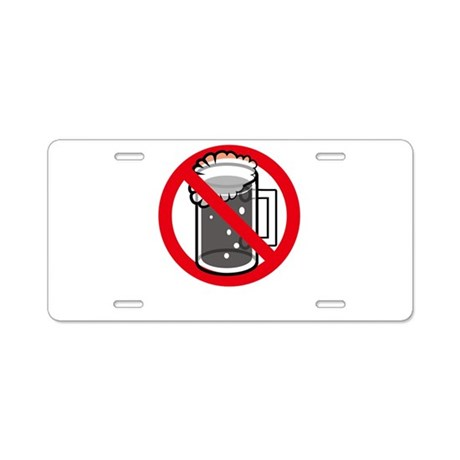 Alcohol Allergy Aluminum License Plate