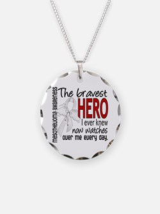 Bravest Hero I Knew Mesothelioma Necklace