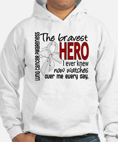 Bravest Hero I Knew Lung Cancer Hoodie