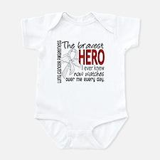 Bravest Hero I Knew Lung Cancer Infant Bodysuit