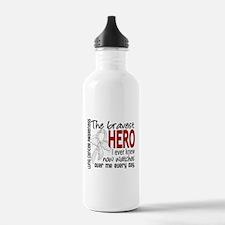 Bravest Hero I Knew Lung Cancer Water Bottle