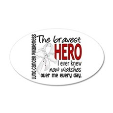Bravest Hero I Knew Lung Cancer Wall Decal