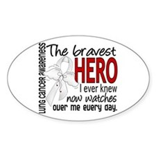 Bravest Hero I Knew Lung Cancer Decal