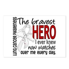 Bravest Hero I Knew Lung Cancer Postcards (Package