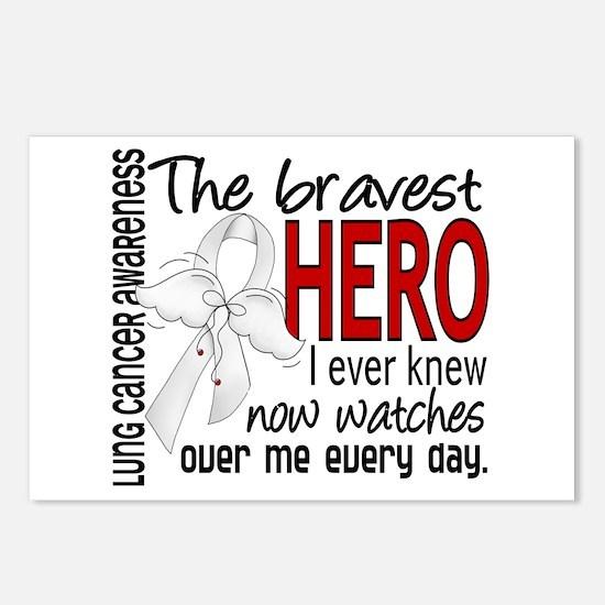 Bravest Hero I Knew Lung Cancer Postcards (Package
