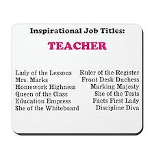 Female Teacher Funny Job Titles Mousepad