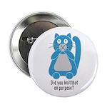 Mean Kitty Knitting Button
