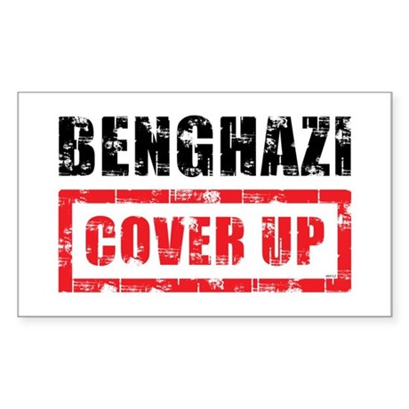 Benghazi Cover Up Sticker (Rectangle)