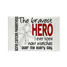 Bravest Hero I Knew Bone Cancer Rectangle Magnet