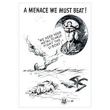 Digitally restored vector war propaganda poster. A