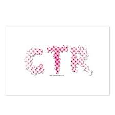 CTR Splatter Half Tone Pink Choose the Right Postc