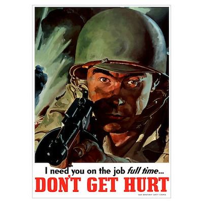 Digitally restored vector war propaganda poster. D Poster