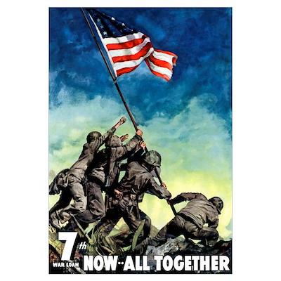 Digitally restored vector war propaganda poster. 7 Poster