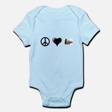 Peace, Love, Cheer Infant Bodysuit
