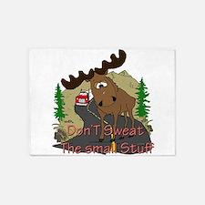 moose fun 5'x7'Area Rug