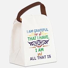 I Am Grateful Canvas Lunch Bag