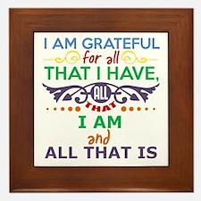 I Am Grateful Framed Tile