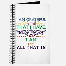 I Am Grateful Journal