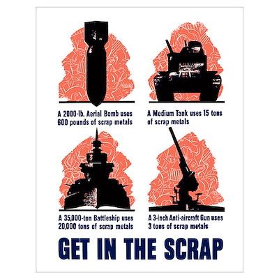 Digitally restored vector war propaganda poster. G Poster
