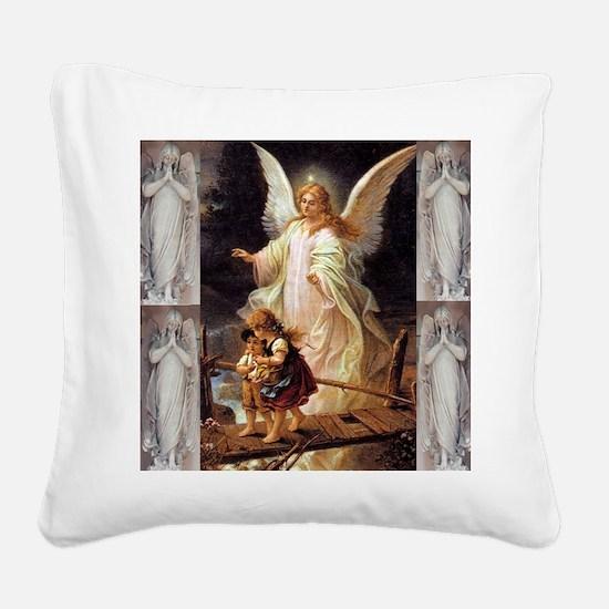 Guardian Angels Square Canvas Pillow