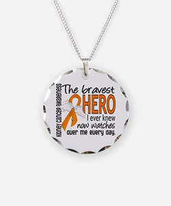 Bravest Hero I Knew Kidney Cancer Necklace