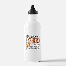 Bravest Hero I Knew Kidney Cancer Water Bottle