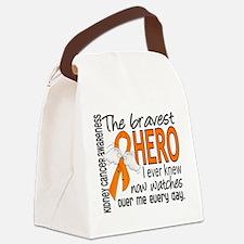 Bravest Hero I Knew Kidney Cancer Canvas Lunch Bag