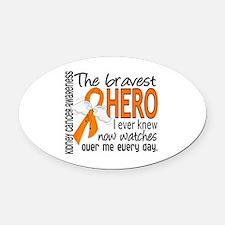 Bravest Hero I Knew Kidney Cancer Oval Car Magnet