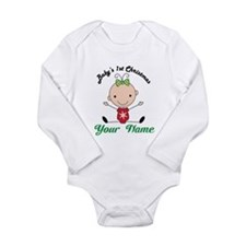Personalized Baby's 1st Christmas Long Sleeve Infa