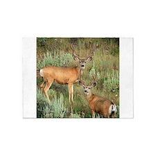 Mule deer velvet 5'x7'Area Rug