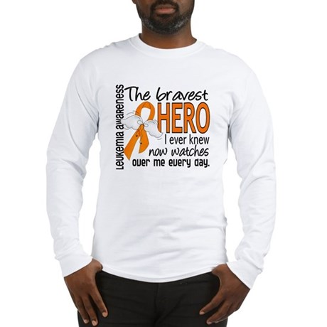 Bravest Hero I Knew Leukemia Long Sleeve T-Shirt