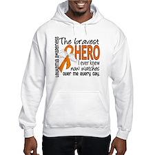 Bravest Hero I Knew Leukemia Hoodie Sweatshirt