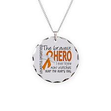 Bravest Hero I Knew Leukemia Necklace Circle Charm