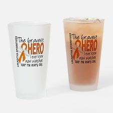 Bravest Hero I Knew Leukemia Drinking Glass