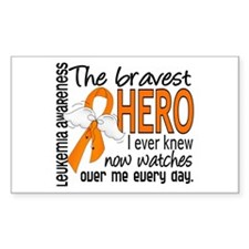Bravest Hero I Knew Leukemia Decal
