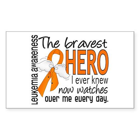 Bravest Hero I Knew Leukemia Sticker (Rectangle)