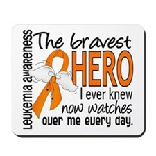 Bravest Hero I Knew Leukemia Mousepad