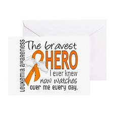 Bravest Hero I Knew Leukemia Greeting Card