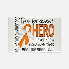 Bravest Hero I Knew Leukemia Rectangle Magnet (10