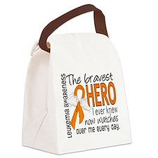 Bravest Hero I Knew Leukemia Canvas Lunch Bag