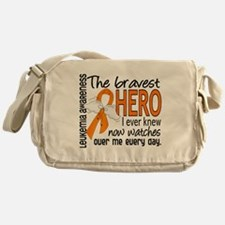 Bravest Hero I Knew Leukemia Messenger Bag