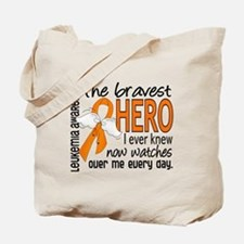 Bravest Hero I Knew Leukemia Tote Bag