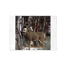 Buck deer 5'x7'Area Rug